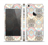 The Vintage Abstract Owl Tan Pattern Skin Set for the Apple iPhone 5