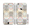 The Vintage Abstract Owl Tan Pattern Sectioned Skin Series for the Apple iPhone 6