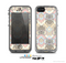 The Vintage Abstract Owl Tan Pattern Skin for the Apple iPhone 5c LifeProof Case