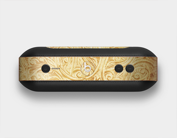 The Vintage Antique Gold Grunge Pattern Skin Set for the Beats Pill Plus