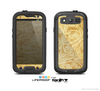The Vintage Antique Gold Grunge Pattern Skin For The Samsung Galaxy S3 LifeProof Case