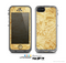 The Vintage Antique Gold Grunge Pattern Skin for the Apple iPhone 5c LifeProof Case
