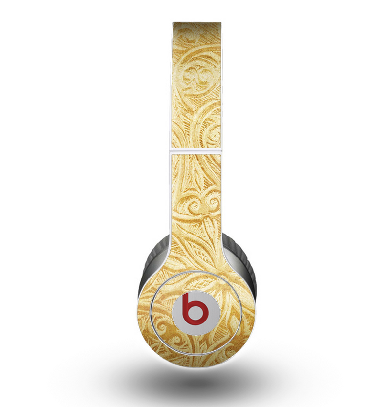 The Vintage Antique Gold Grunge Pattern Skin for the Beats by Dre Original Solo-Solo HD Headphones