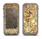 The Vintage Antique Gold Vector Pattern Apple iPhone 5c LifeProof Nuud Case Skin Set