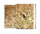 The Vintage Antique Gold Vector Pattern Full Body Skin Set for the Apple iPad Mini 3