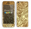 The Vintage Antique Gold Vector Pattern Skin for the Apple iPhone 5c