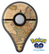 The Vintage Atlantic Ocean Map Pattern Pokémon GO Plus Vinyl Protective Decal Skin Kit