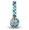 The Vintage Blue & Black Plaid Skin for the Beats by Dre Mixr Headphones