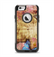 The Vintage Blue Butterfly Background Apple iPhone 6 Otterbox Commuter Case Skin Set