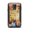 The Vintage Blue Butterfly Background Samsung Galaxy S5 Otterbox Commuter Case Skin Set