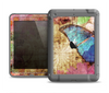 The Vintage Blue Butterfly Background Apple iPad Air LifeProof Fre Case Skin Set