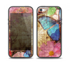 The Vintage Blue Butterfly Background Skin Set for the iPhone 5-5s Skech Glow Case