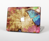 The Vintage Blue Butterfly Background Skin Set for the Apple MacBook Air 13""