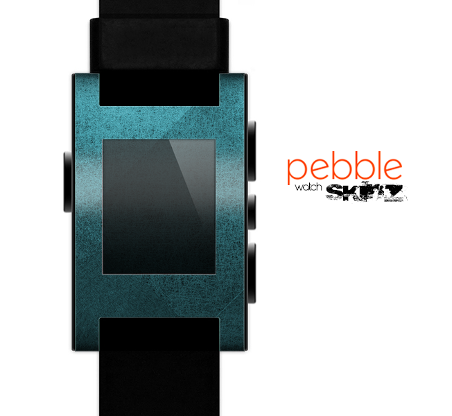 The Vintage Blue Overlapping Cubes Skin for the Pebble SmartWatch