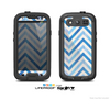 The Vintage Blue Striped Chevron Pattern V4 Skin For The Samsung Galaxy S3 LifeProof Case