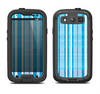 The Vintage Blue Striped Pattern V4 Samsung Galaxy S3 LifeProof Fre Case Skin Set