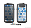 The Vintage Blue Striped Polka Dot Pattern V4 Skin For The Samsung Galaxy S3 LifeProof Case