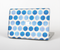 "The Vintage Blue Striped Polka Dot Pattern V4 Skin Set for the Apple MacBook Pro 15"" with Retina Display"
