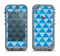 The Vintage Blue Striped Triangular Pattern V4 Apple iPhone 5c LifeProof Nuud Case Skin Set