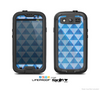 The Vintage Blue Striped Triangular Pattern V4 Skin For The Samsung Galaxy S3 LifeProof Case