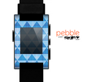 The Vintage Blue Striped Triangular Pattern V4 Skin for the Pebble SmartWatch