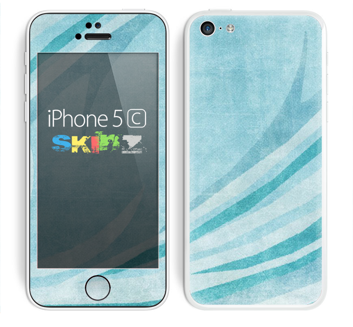 The Vintage Blue Swirled Skin for the Apple iPhone 5c