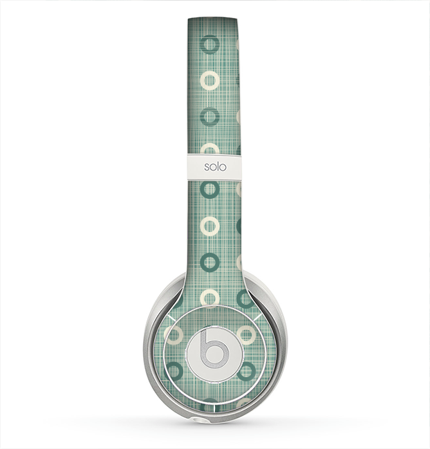 The Vintage Blue & Tan Circles Skin for the Beats by Dre Solo 2 Headphones