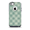 The Vintage Blue & Tan Circles Skin for the iPhone 5c OtterBox Commuter Case