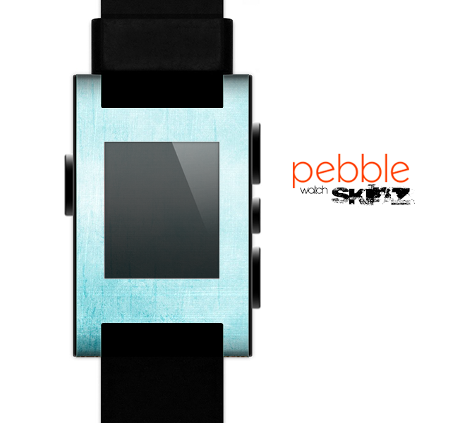 The Vintage Blue Textured Surface Skin for the Pebble SmartWatch