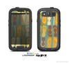 The Vintage Blue & Yellow Flip-Flops Skin For The Samsung Galaxy S3 LifeProof Case
