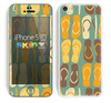 The Vintage Blue & Yellow Flip-Flops Skin for the Apple iPhone 5c