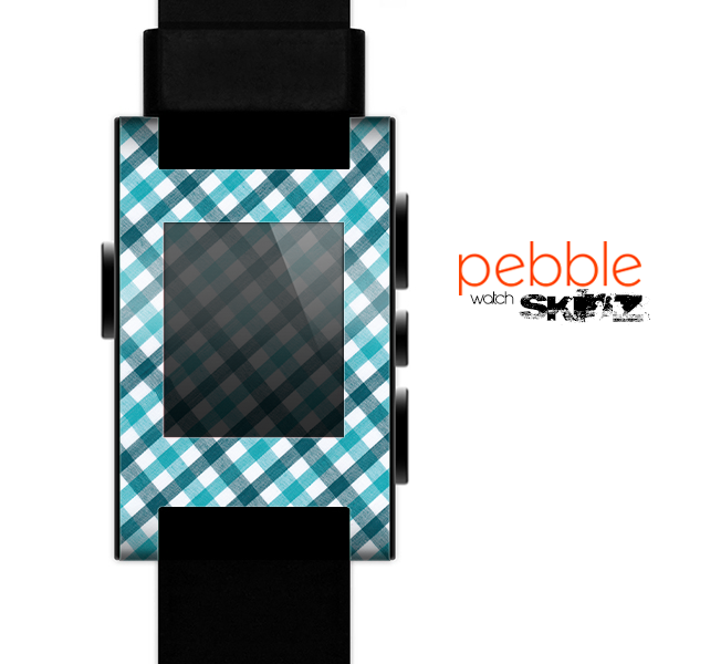 The Vintage Blue & Black Plaid Skin for the Pebble SmartWatch
