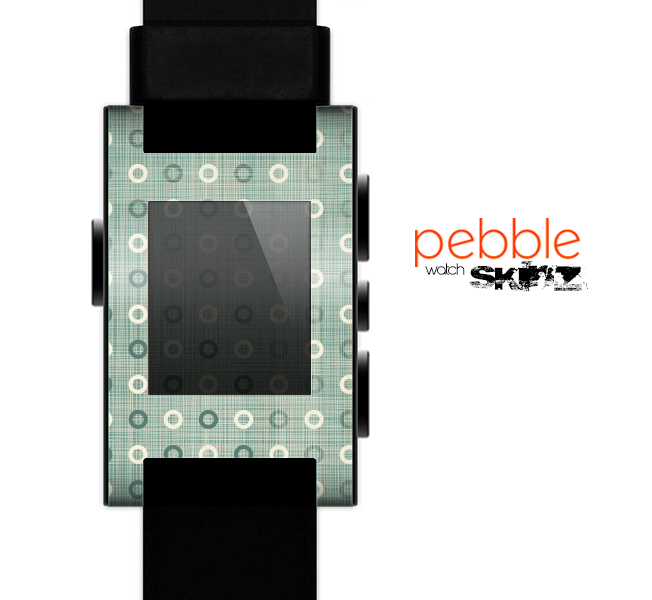 The Vintage Blue & Tan Circles Skin for the Pebble SmartWatch