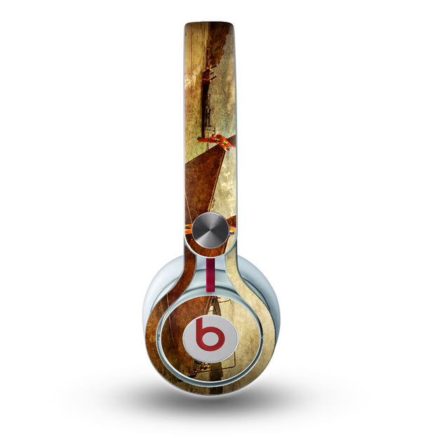 The Vintage Boats Beach Scene Skin for the Beats by Dre Mixr Headphones