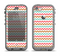The Vintage Brown-Teal-Pink Chevron Pattern Apple iPhone 5c LifeProof Nuud Case Skin Set