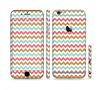 The Vintage Brown-Teal-Pink Chevron Pattern Sectioned Skin Series for the Apple iPhone 6 Plus