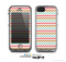 The Vintage Brown-Teal-Pink Chevron Pattern Skin for the Apple iPhone 5c LifeProof Case