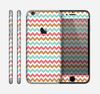 The Vintage Brown-Teal-Pink Chevron Pattern Skin for the Apple iPhone 6