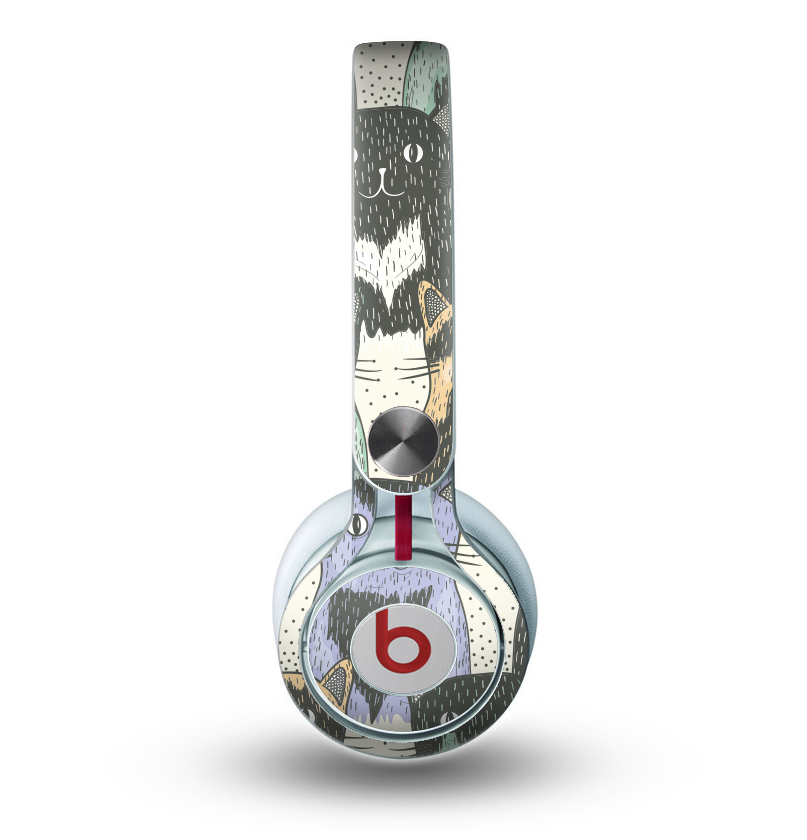 66d716aca91c The Vintage Cat portrait Skin for the Beats by Dre Mixr Headphones -  DesignSkinz
