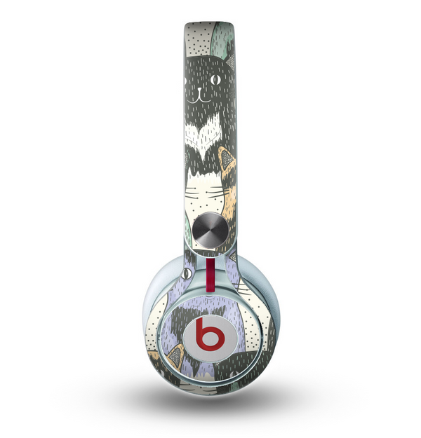 The Vintage Cat portrait Skin for the Beats by Dre Mixr Headphones