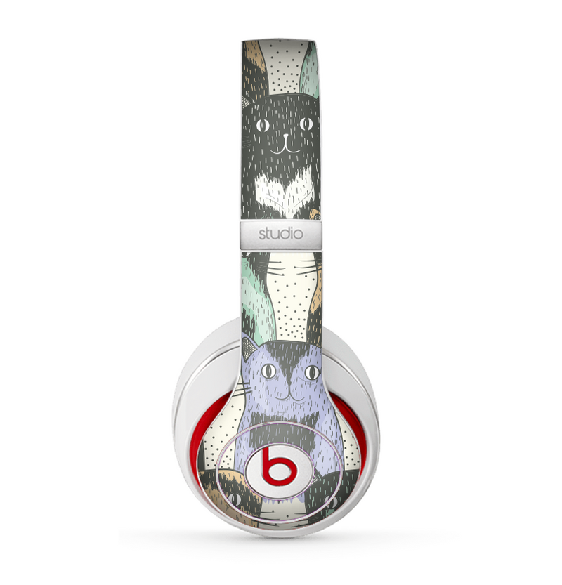 The Vintage Cat portrait Skin for the Beats by Dre Studio (2013+ Version) Headphones