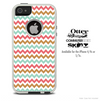 The Vintage Chevron Colored Skin For The iPhone 4-4s or 5-5s Otterbox Commuter Case