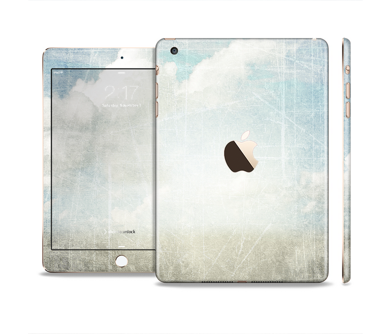 The Vintage Cloudy Scene Surface Full Body Skin Set for the Apple iPad Mini 3