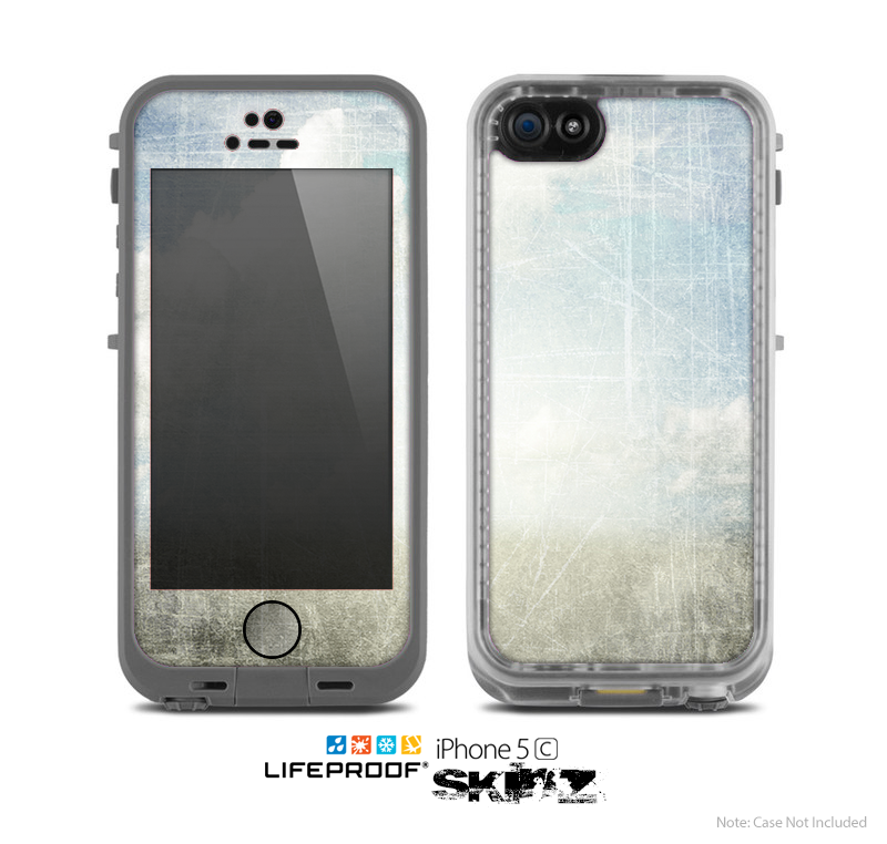 The Vintage Cloudy Scene Surface Skin for the Apple iPhone 5c LifeProof Case