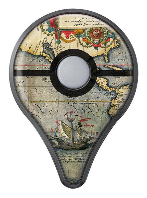 The Vintage Coast Map Pokémon GO Plus Vinyl Protective Decal Skin Kit