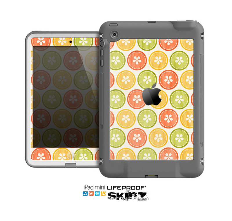 The Vintage Color Buttons Skin for the Apple iPad Mini LifeProof Case