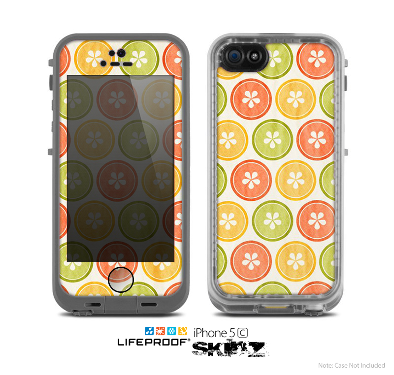 The Vintage Color Buttons Skin for the Apple iPhone 5c LifeProof Case