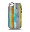 The Vintage Colored Wooden Planks Apple iPhone 5c Otterbox Symmetry Case Skin Set