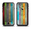 The Vintage Colored Wooden Planks Apple iPhone 6 LifeProof Fre Case Skin Set