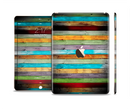 The Vintage Colored Wooden Planks Skin Set for the Apple iPad Pro